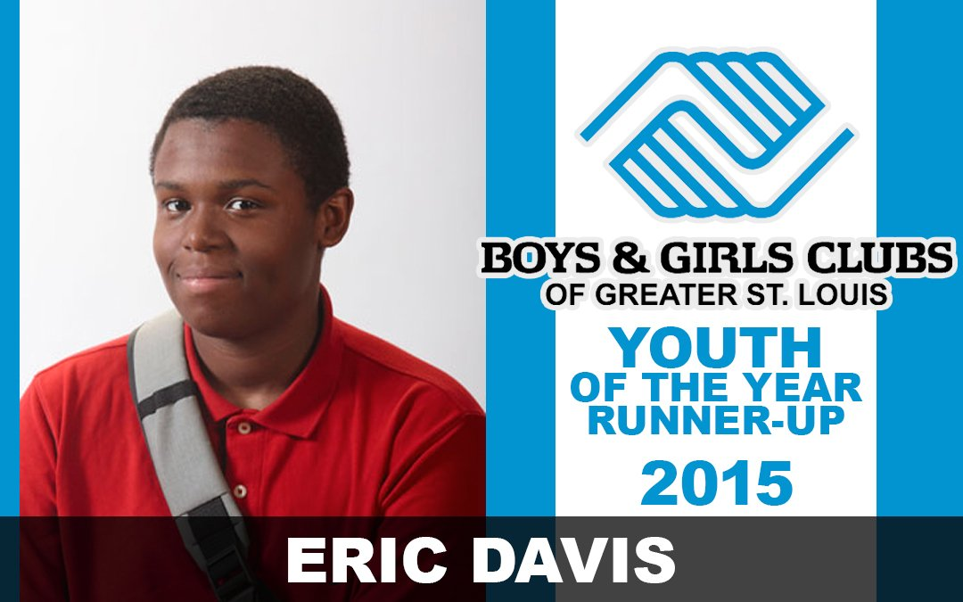 2015 Youth of the Year – Runner up, Eric Davis