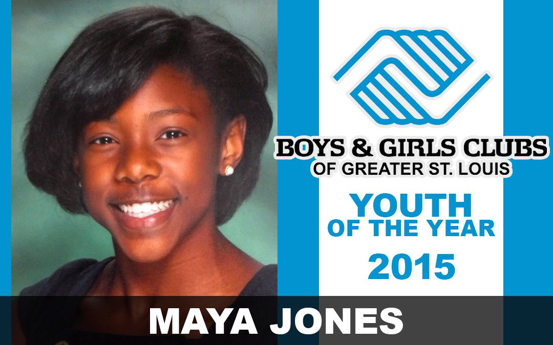 2015 Youth of the Year Winner, Maya Jones