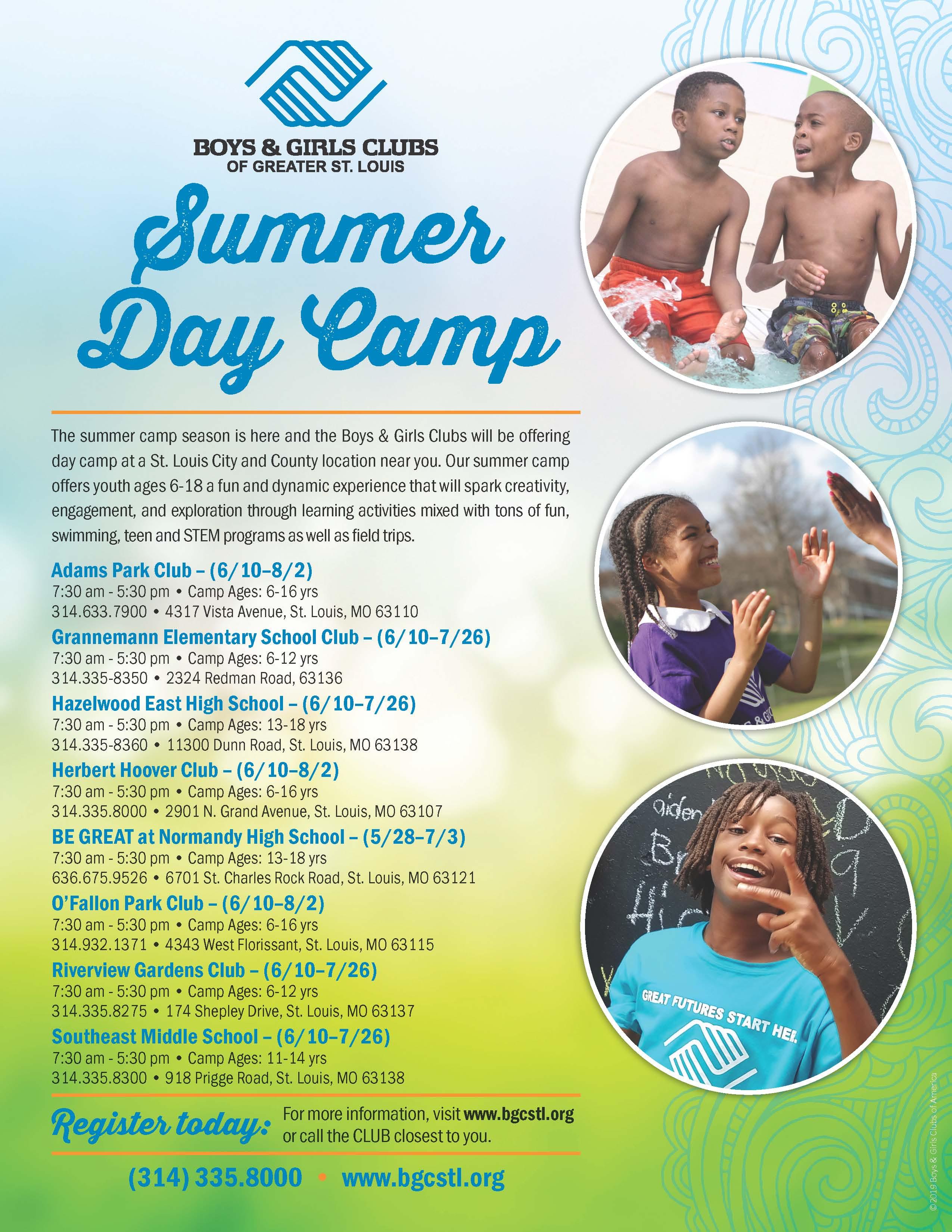 boy and girls club summer camp